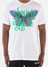 SOCIETY BUTTERFLY WHITE T-SHIRT