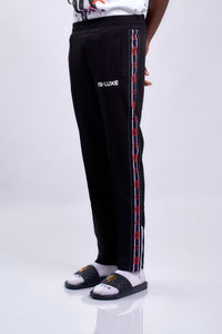 BLACK ROBOTICS TRACK PANTS