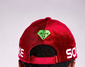APOLLO BURGUNDY VELVET CAP