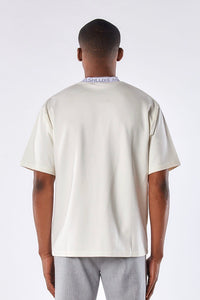 CHALK WHITE NECK LOGO T-SHIRT