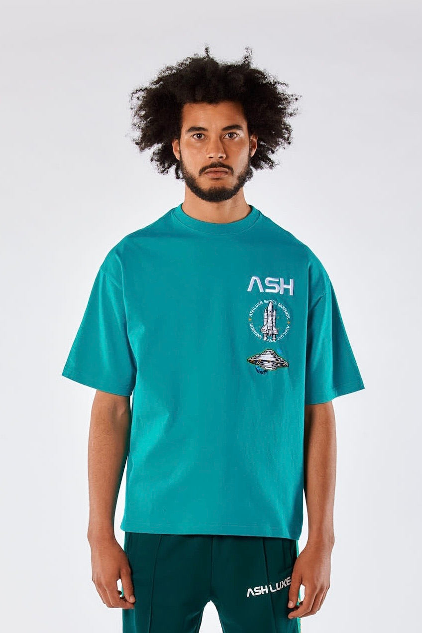 TEAL ASH OVERSIZED T-SHIRT