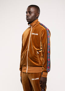VELVET BROWN ROBOTICS TRACK JACKET