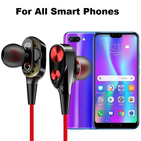 3D Earphone Deep Bass Stereo Sport Wired Headphone For All Smartphones