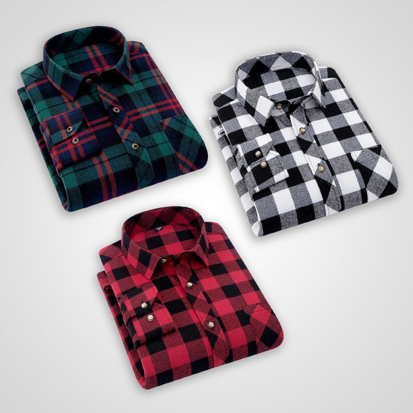 Combo of 3 Mens check Slim Fit Shirts