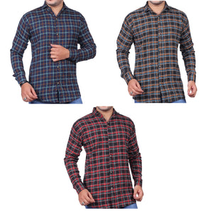 3 Checkered Shirts For Men