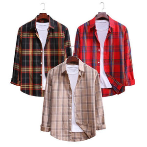 Pack Of 03 Casual Long Sleeved Shirts