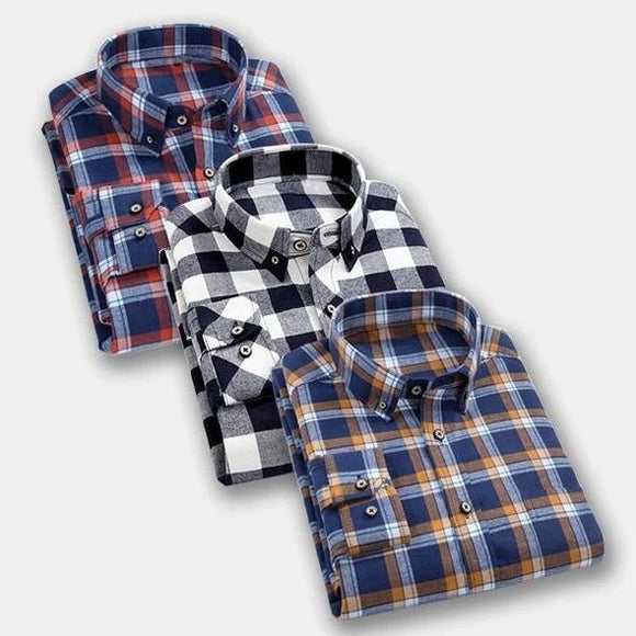 3 Checkered Formal Shirt  For Men