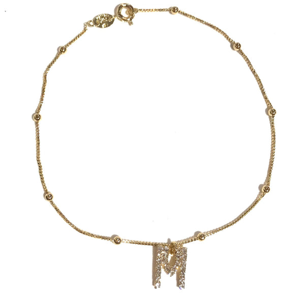 Gold Filled Initial Anklet