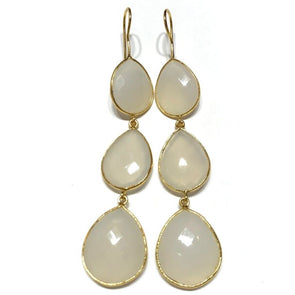 Triple Snow Drop Earrings