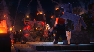 minecraft dungeons review xbox one
