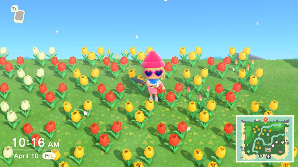 Red and Yellow tulips, animal crossing new horizons