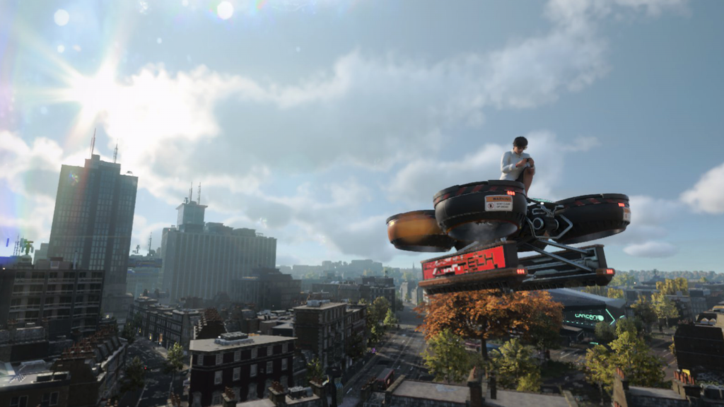 watch dogs legion cargo drone review