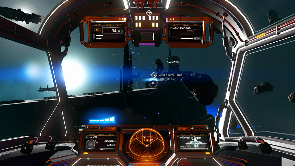 view from a starship