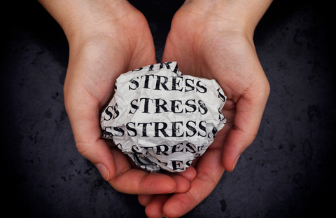 Paper that says stress on it