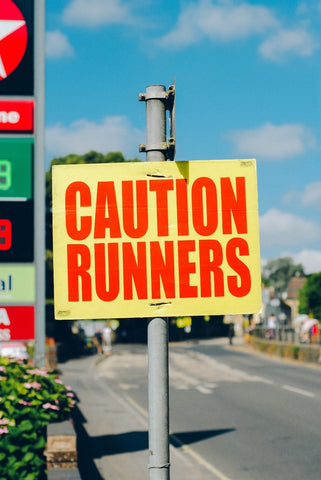 Caution Runners sign