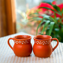 Load image into Gallery viewer, Eye Catchy Earthern Tea Cups(Set of 2)