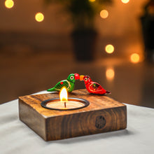 Load image into Gallery viewer, Love Birds Tealight Holder - Diwali Gifts, Indian wedding Favors