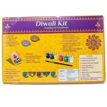 Load image into Gallery viewer, DIY Diwali Gift for Kids-Paint your own Diyas  Make your own Rangoli