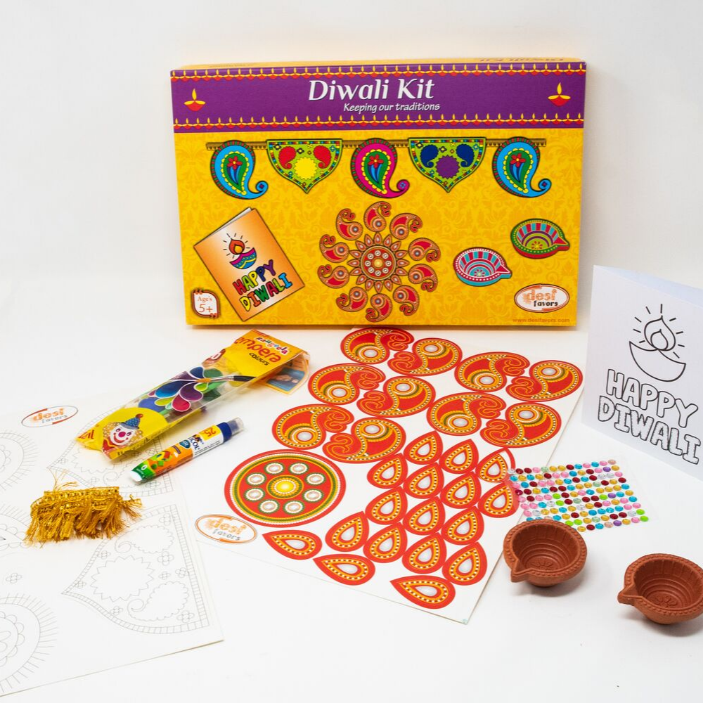 DIY Diwali Gift for Kids-Paint your own Diyas/Make your own Rangoli
