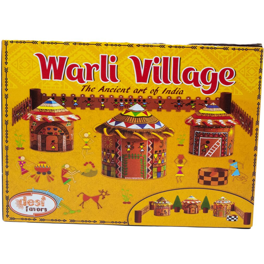 Kids Pretend Play Warli Art for Kids - Make a Village