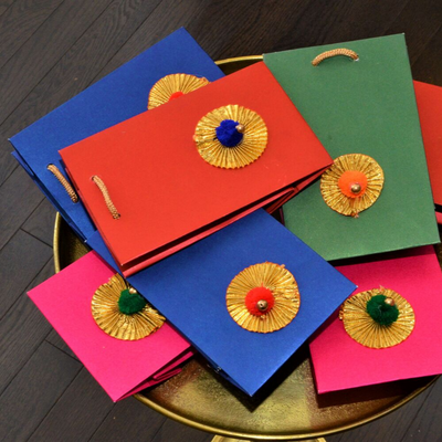 Golden Gota Flower Bags