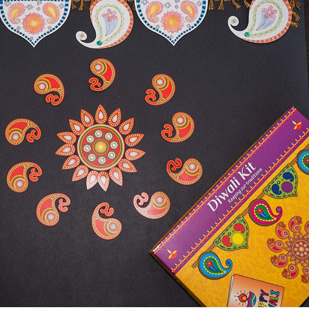 DIY Diwali Gift for Kids-Paint your own Diyas  Make your own Rangoli