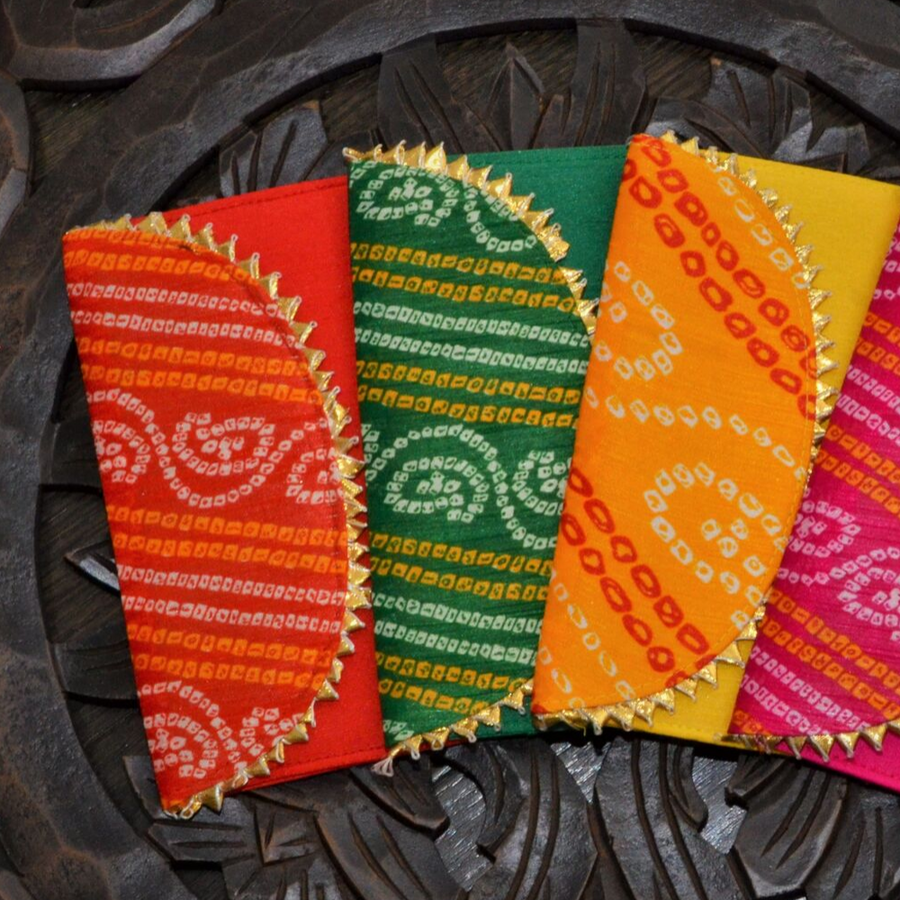 Set of 4 Bandhini Envelopes