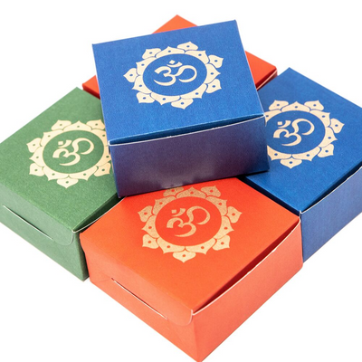 Set of 8 Beautiful Small Om Boxes - Perfect for Laddo/Candies/Sweets