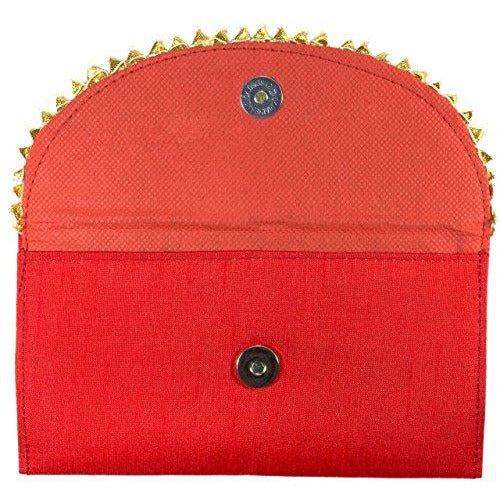 Shagun Brocade Money Envelopes Red Open