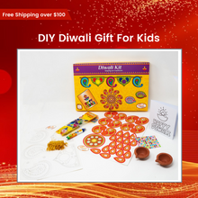 Load image into Gallery viewer, DIY Diwali Gift for Kids-Paint your own Diyas/Make your own Rangoli