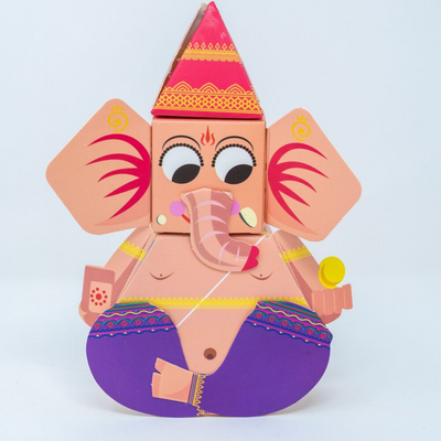 DIY 3D Paper Ganesha Kit