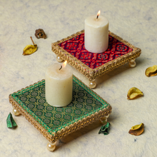 Load image into Gallery viewer, Handmade Fabric Tealight Holder