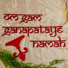 Load image into Gallery viewer, Ganesha Mantra+ Indian Border - DIY Indian Decor
