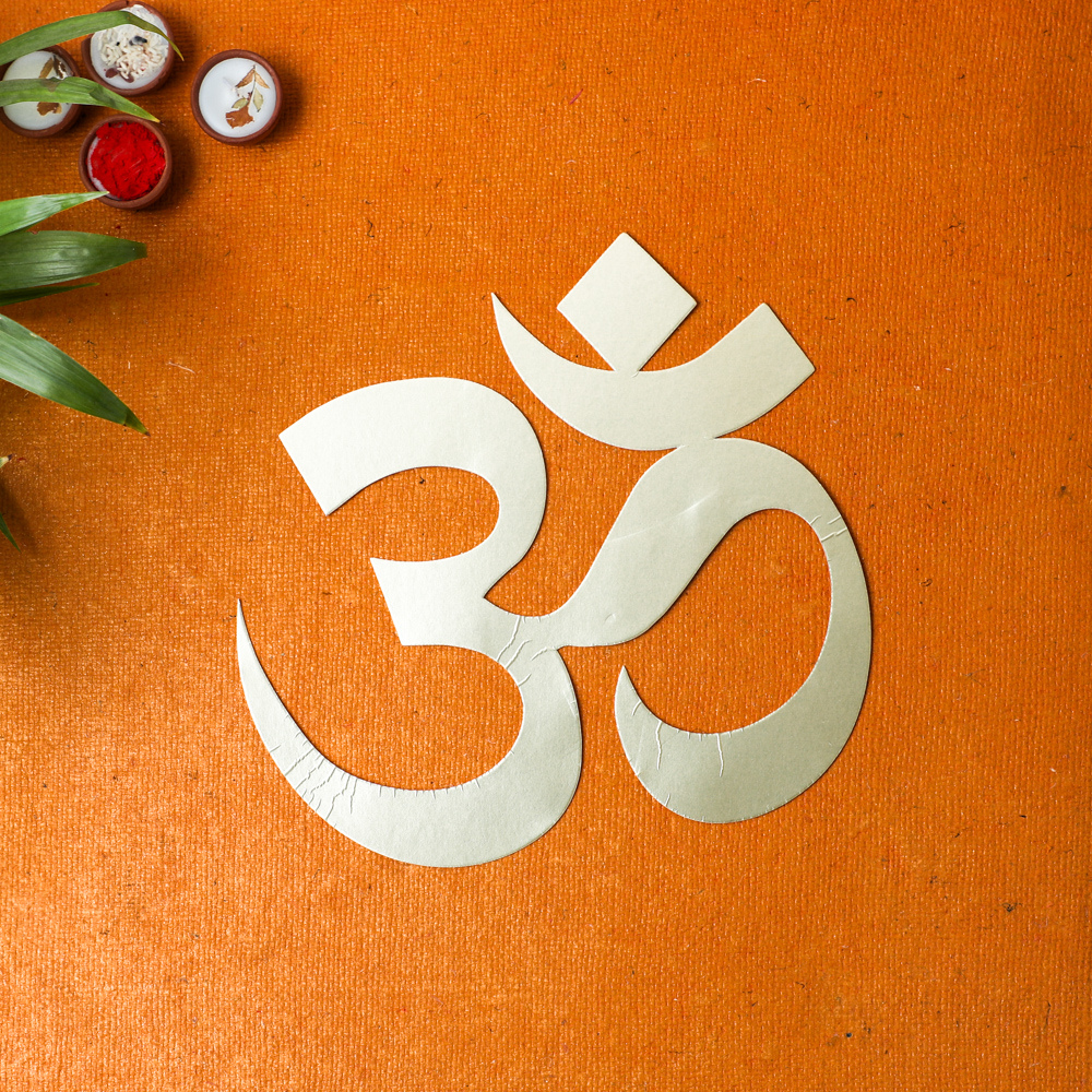 Om Ganesha Lotus and Swastik (4 cutouts)