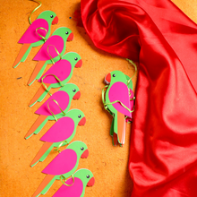 Load image into Gallery viewer, Indian Themed Parrot Garlands for Decorations (Set of 2)
