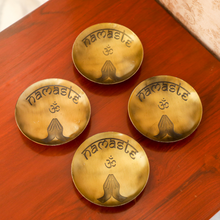 Load image into Gallery viewer, Anitque Brass Namaste Ring Holder(Set of 4)