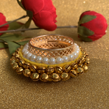 Load image into Gallery viewer, Set of 2 Metal Diyas with Bells