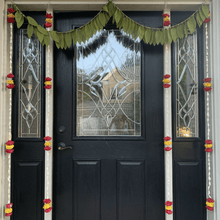 Load image into Gallery viewer, Lilly Garlands 5ft with red and yellow pattern