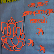 Load image into Gallery viewer, Ganesha Mantra Indian Border - DIY Indian Decor