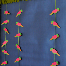Load image into Gallery viewer, Indian Themed Parrot Garlands for Decorations Set of 2