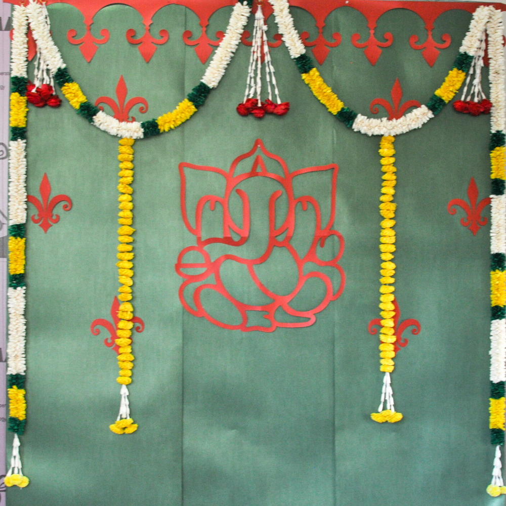 Ganesha Mantra Indian Border - DIY Indian Decor
