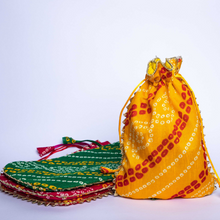 Load image into Gallery viewer, Colorful Indian Bandhini Potlis (Set of 4)