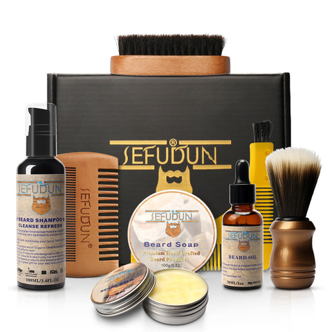 8 Piece Beard Balm and Oil Kit-shavercentre.com.au