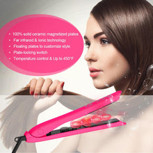 Load image into Gallery viewer, Pink Ceramic Straightening Hair Iron-shavercentre.com.au