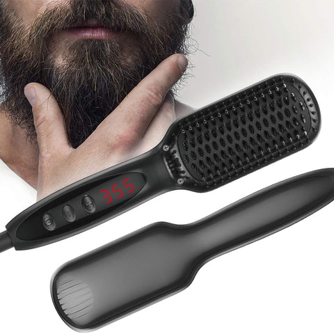 Image of Electric Ionic Hair Straightener Brush-shavercentre.com.au