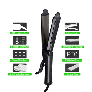 Professional Steam Tourmaline Ceramic Hair Straightener-shavercentre.com.au