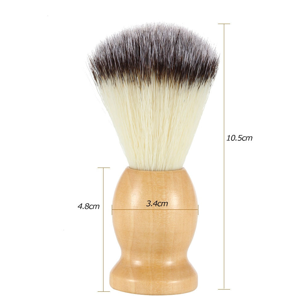 Men's Shaving Brush With Wooden Handle-shavercentre.com.au