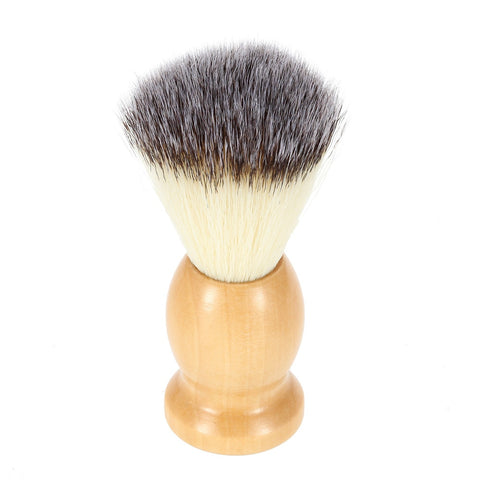 Image of Men's Shaving Brush With Wooden Handle-shavercentre.com.au