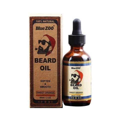 Image of 100% Natural Blue Zoo Organic Beard Oil 60 ml - Beeswax Infused-shavercentre.com.au