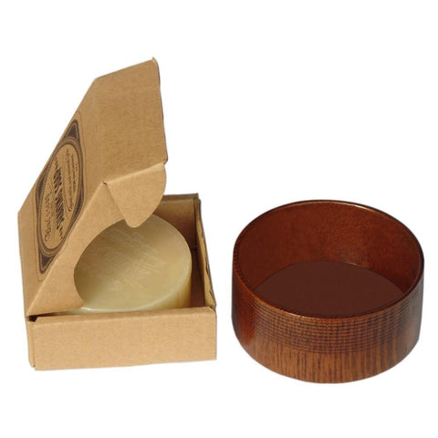 Image of Shaving Soap Cream with Wooden Shaving Bowl-shavercentre.com.au